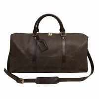 Top Quality Duffle Bag Mulheres Saco de Viagem Bagagem PU Bolsa de Couro Bolsa Grande Cruz Body totes 55cm mochila mala 5 cores