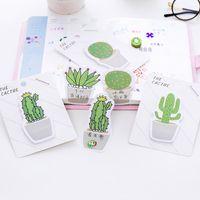 Schöne Kaktus Memo Pad Klebrige Hinweis Aufkleber Memo Buch Hinweis Papier N Sticker Schreibwaren Büro Zubehör Schulbedarf