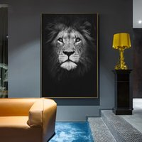 Affiches en noir et blanc et des animaux Prints Lion Zebra Elephan Grande Oeuvre d'art Wall Art Toile Photos Accueil Peinture Décoration