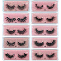 3D mink eyelashes wholesale 10 style natural long 3d mink la...