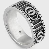 Hoge kwaliteit sterling zilveren ring speciale ontwerp brief persoonlijkheid ring retro hip hop paar ring mode-sieraden aanbod