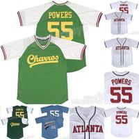 55 Kenny Powers Eastbound et Down Myrtle Beach Merner Mexican Charros Atlanta Baseball Jersey Livraison gratuite