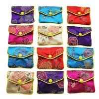 Borsa regalo dei monili seta borsa sacchetto di Piccolo Gioielleria cinese broccato ricamato Coin organizzatori tasca per le donne Ragazze