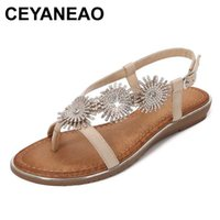 CEYANEAORound Toe All-Match Woman Sandal Comfort Shoes For Women Rhinestone Sandals Large Size Ladies Comfort Block With Fashion