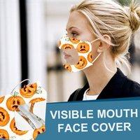 Visibile Bocca Volto coperchio antipolvere lavabili riutilizzabili della maschera di Halloween Maschera adulti sordomuto mascherine trasparenti Designer DHL UPS