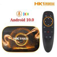 HK1 RBOX R1 TV Box Android 10 4 GB 64 GB 32GB Rockchip RK3318 Quad Core Core 4K Set Top Boxs TVBox con G10 Voice Telem Controller
