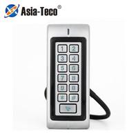 Contrôle d'accès des empreintes digitales ZKRT370 Métal RFID Touche imperméable à l'eau 1000 Utilisateurs ID / carte IC Card Système de porte WIEGAND