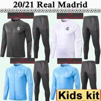 20 21 Heasust Coussusit Kids Kit Soccer Jerseys Новые Сергиео Рамос Бензема Куртка Детский Костюм Футбольные Рубашки Учебная одежда