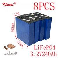8PCS KLUOSI 3.2V240Ah LiFePO4 Batterie 8S / 24V Pack für Solar Energiespeicher Inverter EV Marine-RV Golf US / EU TAX FREE