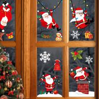 الديكور عيد ميلاد سعيد ملصقات الحائط أزياء سانتا كلوز غرفة النافذة السنة الجديدة ديكور المنزل DHL شحن مجاني