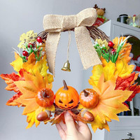 Artificial Pumpkin Garland Autumn Harvest Home Garden Wall D...