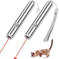 led 2 in 1 rosso luna torcia laser luce portatile giocattolo mini gatto domestico penna laser multifunzione Led luce escursione esterna di campeggio della lampada a portata di mano