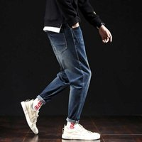 Trendy Harem Jeans Men Casual Denim-Hosen Regular Fit-dünne Jeans-Hose Straße Man Kleidung