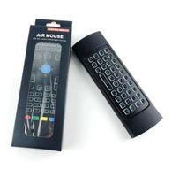 X8-Hintergrundbeleuchtung MX3 Mini-Tastatur mit IR-Lern Qwerty 2.4G Wireless Fernbedienung 6Axis Fly Air Mouse Backlit gampad Für Android TV Box i8