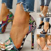 Frauen Pumpt Neue Schuhe Sexy High Heels Damen Party Stiletto Vergrößern Weibliche Silber Hochzeit Schlange Drucken Heels Zapatos UI Hot LJ200925