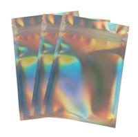 ختم الذاتي كيس من البلاستيك الملونة كامل الحجم الألومنيوم احباط مجمع التخزين أكياس ليزر الرئيسية رائحة الأغذية والدليل على التعبئة الأدوات 0 23hw G2