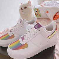 2020 new low-top skateboard shoes dunk number one rainbow sneakers men's women's casual sneakers running shoes