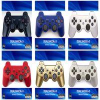PS3 컨트롤러 무선 컨트롤러 블루투스 게임 플레이 스테이션 용 더블 쇼크 3 PS3 조이스틱 Gamepad 소매 상자 DHL 무료
