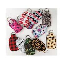 DHL Expédition Colorful Modèle d'impression Porte-bouteille Sacs de bouteille de porte-clés 30ml 10.5 * 5.5cm porte-clés porte-bouteille de savon à la main FY8119