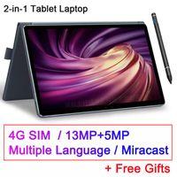 2020 Voll New 11,6 Zoll 2 in 1 Tablette GPS Android MT6797 10 Kerne Gaming-PC Tabletten 4G Telefonanruf Laptop Tablet mit Tastatur