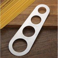4 trous Rulers en acier inoxydable spaghetti Mesure Ruler Accueil Cuisine Noodle métallique Couleur Accessoires outil chaud vente 1 8cy G2