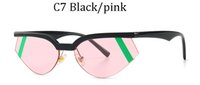 2020 새로운 작은 고양이의 눈은 모드 남성 마크 된 명품 안경테 UV400의 여성 선글라스의 선글라스를 좁힐