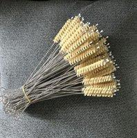 temizleme fırçası 220 * 50 * 9MM sisal Doğal saman temizleme fırçası için bambu saman test tüpü için sıcak Sabit Sisal saman fırça