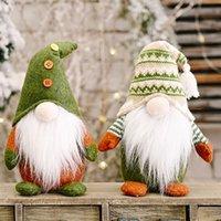 زينة عيد الميلاد مجهولي الهوية دمية بابا نويل الحلي محبوك غير المنسوجة النسيج الدائمة الموقف الإبداعية عيد الميلاد الحلي XD23917