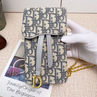 Free Shipping! New Genuine Leather Fashion Chain Shoulder Bags Handbag Presbyopic Mini Wallets Mobile Card Holder Purse s35