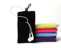 Telefono Velluto Pouch Cloth Sleeve Lint Bag Pouch Soft Double Pouch Bag Velluto Phone Case Buckle Protection Bead Bag Per accessori del telefono cellulare