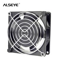 مراوح التبريد Alseye 9CM AC 220/240 فولت مروحة اثنين الكريم كريمة مع غطاء 50/60 هرتز 2600 دورة في الدقيقة الإطار المعدني 90 ملليمتر