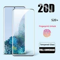 Full Cover Tempered Glass für Samsung Galaxy S20 Plus S20 Ultra Screen Protector für Samsung A30 A50 A70 Note 10 S10 plus Glas
