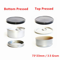 3.5g缶缶貧困防止漏れ防止包装錫プレートケースマシンシールハンドプレス缶蓋付き錫箱