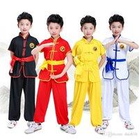 Los niños Tradicional China de Wushu Ropa de uniforme para niños artes marciales de Kung Fu juego de las muchachas niños funcionamiento de la etapa del traje de Halloween conjunto