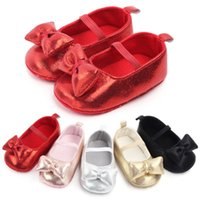 First Walker Princess Baby Girls Tooss Glitter Newborn Peties Soft Sole Toddler Детская кроватка Shoess Party Bowknot Антискользящая 0-18м