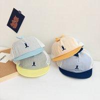 Ampla borda chapéus Chao Meng Bordado dos desenhos animados Bebê Bebê Soft Beat 2021 Sunscreen para bebês e crianças