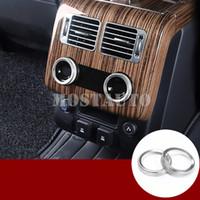 Air conditionné arrière Bouton Garniture couverture pour Land Rover Range Rover Sport L405 Vogue 2018 Argent / Bleu / Rouge 2pcs