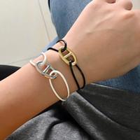 Qualitäts-Schwein-Nasen-Art-Armband 8 Arten von Farbe Wachs-Seil-justierbares freien Armband für Frauen-Mode Handgelenk Schmuck