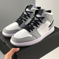 1s High Light Smoke Grey femmes chaussures de basket-ball des hommes 1 haute top baskets sneakers en cuir sport hommes en plein air formateurs 5.5-13