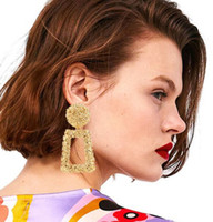 Pendientes grandes creativos geométricos de moda europea y americana, pendientes de explosión creativos personalizados.