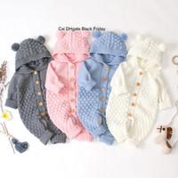 Hiver baby bandes dessin animé garçons tricotés garçons nouveau-nés combinaisons vêtements vêtements automne à manches longues pull bambin enfants