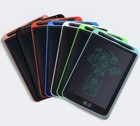 محلي الأطفال محو LCD الكتابة اللوحي الذكية رسم الإلكترونية مجلس LCD الطاقة الضوئية سميكة الكتابة اليدوية لوحي 8.5 بوصة 12 بوصة