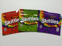 Nova Chegada Skittles Mylar Sacos 400mg Vazio Medicados ARCO-ÍRIS ARCO-ÍRIS ARCÁRIO SOLDY Doces Gummy Zipper Embalagem de varejo Skittles Bags bolsa pacote