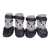 متعدد الألوان 4 قطعة / الوحدة القطن المطاط كلب أحذية ماء عدم الانزلاق الكلب المطر أحذية الثلوج الجوارب الأحذية ل جرو القطط الصغيرة الكلاب