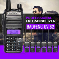 6pcs Baofeng UV-82 à double bande VHF UHF talkie-walkie 136-174MHz 400-520MHZ Fréquence Portable Hf Transceiver Ham Radio