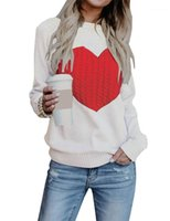 Sweater Long Sleeve O-Neck Fashion Spring Autumn Slim Clothing Womens Casual Knitted Sweater Womens Designer Love