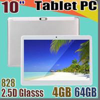 """828D de haute qualité 10 pouces MTK6582 2.5D IPS glasss écran tactile capacitif dual sim tablette 3G GPS pc 10"""" Android 6.0 Octa de base de 4 Go 64 Go"""