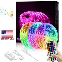100m 5050 3528 SMD LED Strip Licht Warm Pure Cool Wit Rood Blauw RGB Waterdichte IP65 Niet-waterdichte flexibele 24V USA Stock