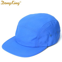 DongKing NEW 5 Panels Classic Baseball Cap Short Brim Baseball Cap Taslon Splash proof Fabric Quick DRY Hat Flat Bill Big Size LJ200922