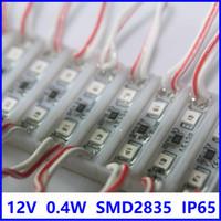 Tayvan SMD 2835 2 Aydınlatma 26x7mm Mini Modülü İşareti DC12V Su Geçirmez Süper Parlak LED Modülleri 0.4W